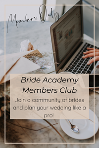 The Bride Academy Members Club- a community a brides to be, planning their weddings like a pro.