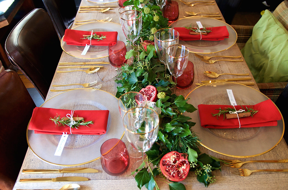 Christmas table styling, Christmas event planners