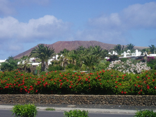Front view of Casas del Sol