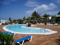 Heated main pool