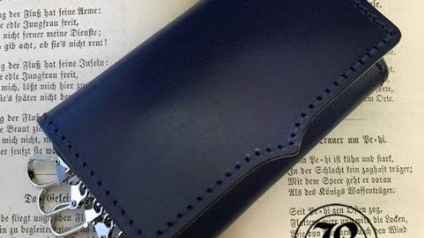 ルガトショルダーを使用した本革製6連レザーキーケース