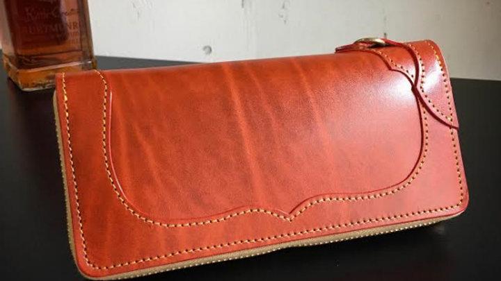 ルガトショルダーを使用した本革製レザーラウンド長財布