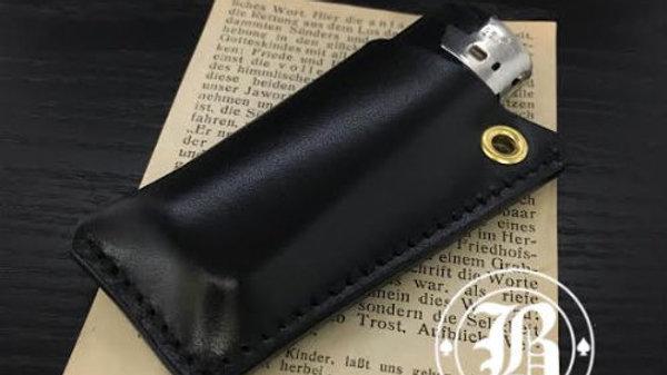 ルガトショルダーを使用した本革製レザーライターケース