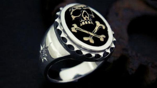 海賊モチーフのシルバーリング