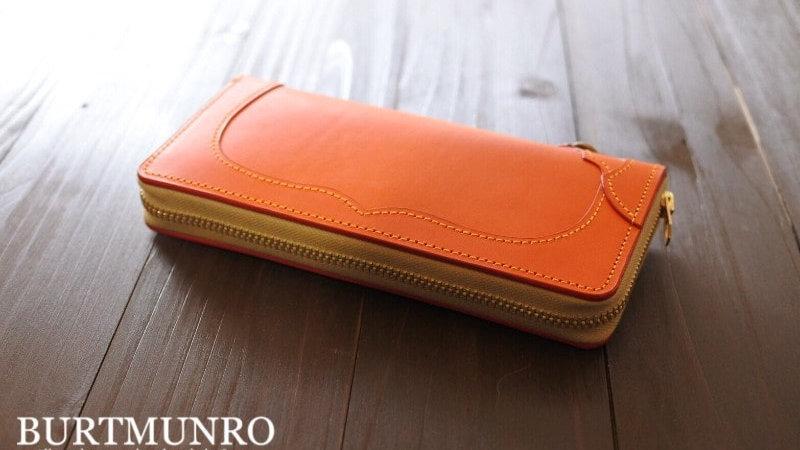 ブッテーロを使用したハンドメイドレザー財布