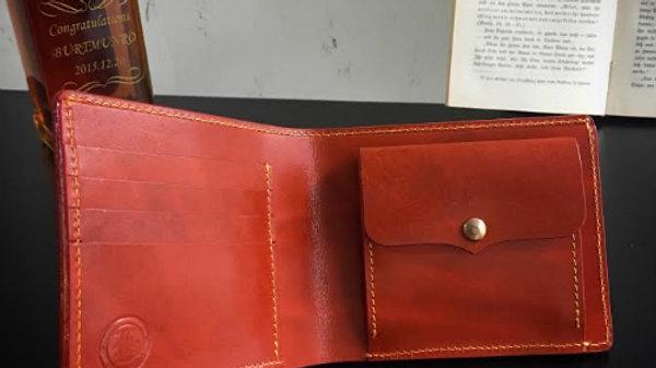 ルガトショルダーを使用した本革製2つ折り財布