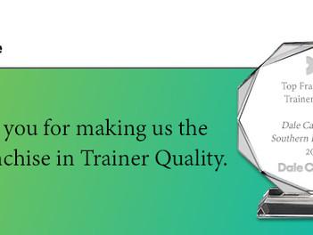 Dale Carnegie Trainer Quality Award