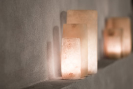 hygge Alabaster candle holders