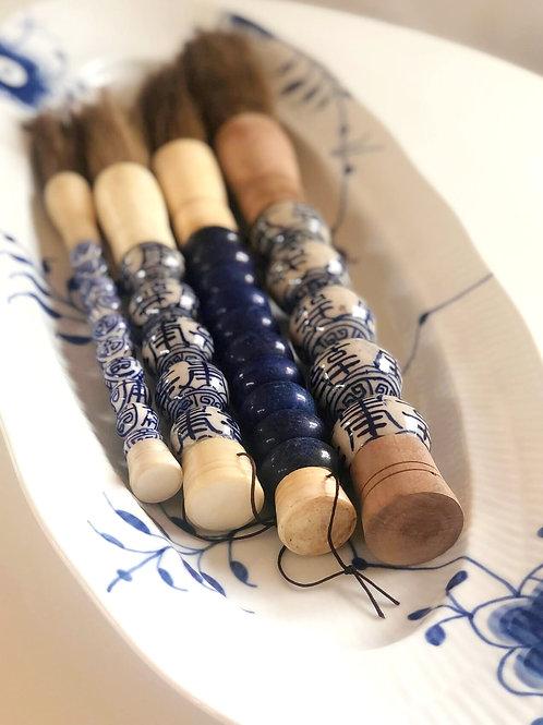 Chinese Calligraphy Brush - 42cm Blue