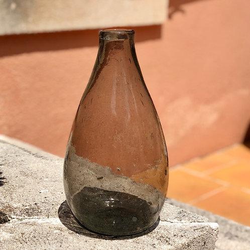 Sustainable grey glass vase