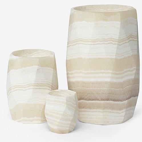 Alabaster Sapphire Stone Candleholder- various sizes