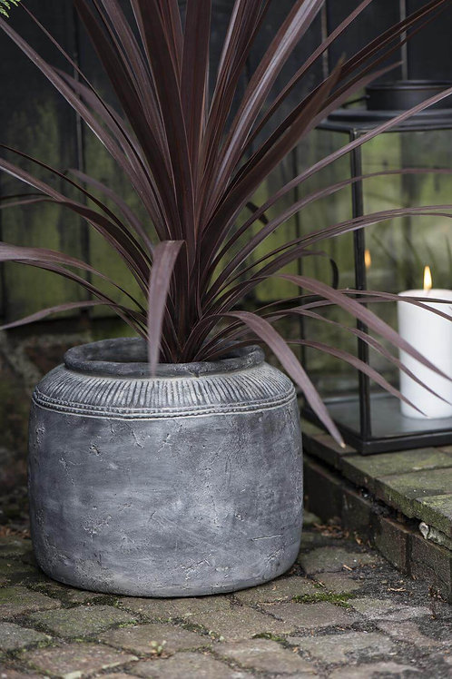 Big Grey grooved HYGGE pot