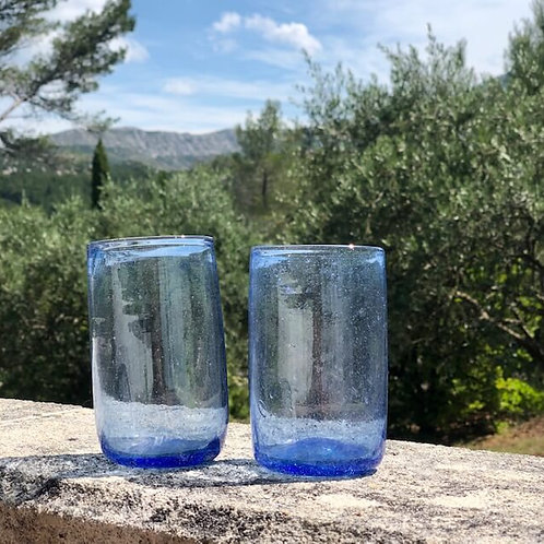 Sustainable blue glasses