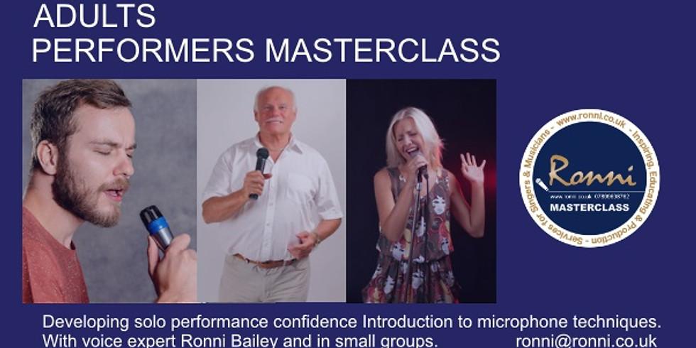 Performers Masterclass  Adults - Registration FEB