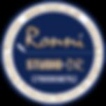 Ronni circle Logo-Stickers Studio DR - M