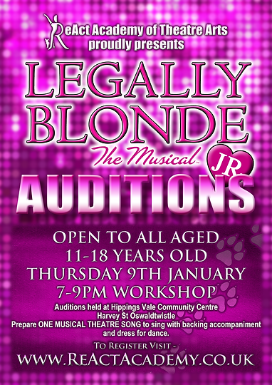 ReAct Leagaly Blonde audition poster.png
