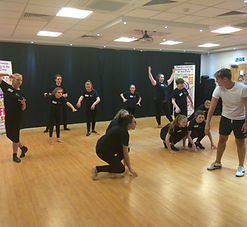 Musical Theatre class at ReAct Academy of Theatre Arts