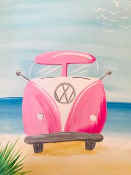 VW Van on Beach