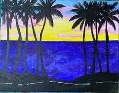 Silohuette Palm