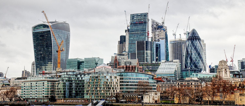 London Skyline Cranes Scaffolding