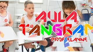 A turma do 1º ano A manhã aprendeu sobre como montar um tangram