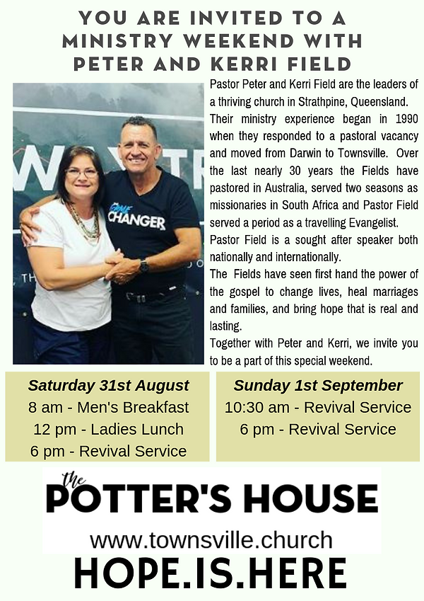 A MINISTRY WEEKEND WITH PETER AND KERRI