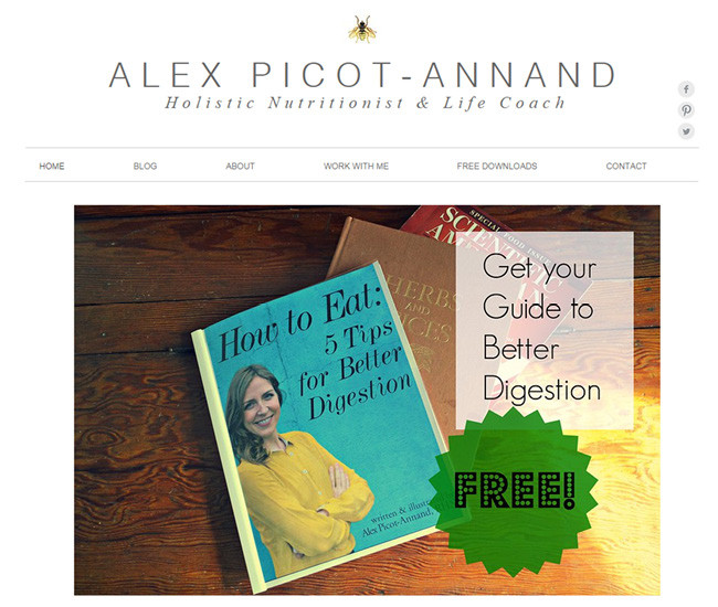 Captura de Pantalla del Sitio Web de Alex Picot
