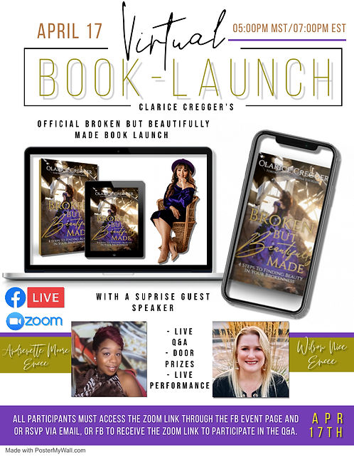 Virtual Book Launch - Made with PosterMy