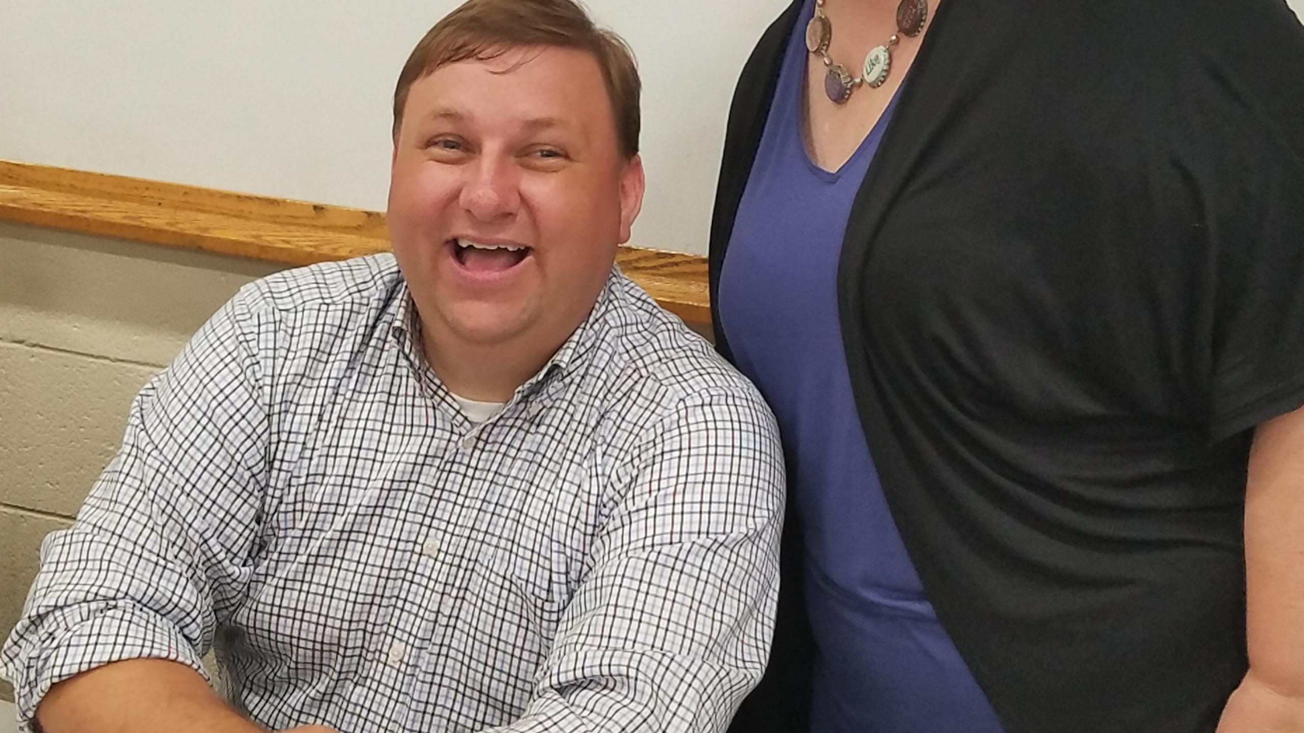 Aaron Marcavitch with Megan