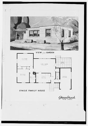 Drawing of house in Greenbrook NJ LOC.jp