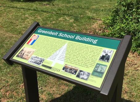 Greenbelt School Building Wayside Panel