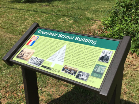 Greenbelt School Building Wayside Panel