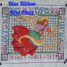 Cross Stitch Angels Gather