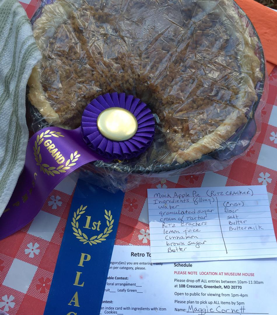 Grand Champion Mock Apple Pie