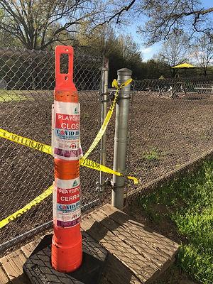 COVID sign at Greenbelt Playground.jpg