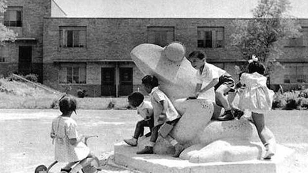 Children playing at Langston Terrace DC