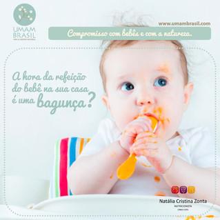 A hora da refeição do bebê na sua casa é uma bagunça?