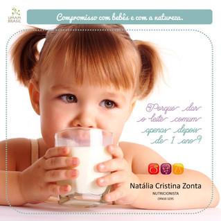 Porque dar o leite comum apenas depois de 1 ano?