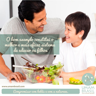 Exemplo de pai para filho para uma vida mais sustentável