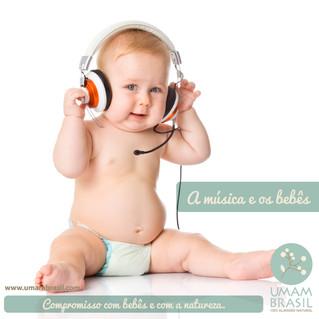 A música e os bebês