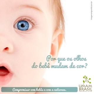 Por que os olhos do bebê mudam de cor?