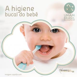 A higiene bucal do bebê