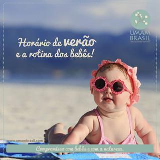 Horário de verão e a rotina dos bebês