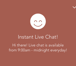 New Instant Live Chat!