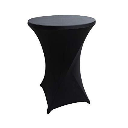 Black Cocktail Table Cover