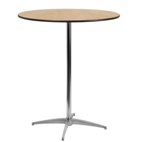 Wooden High Top Round Table
