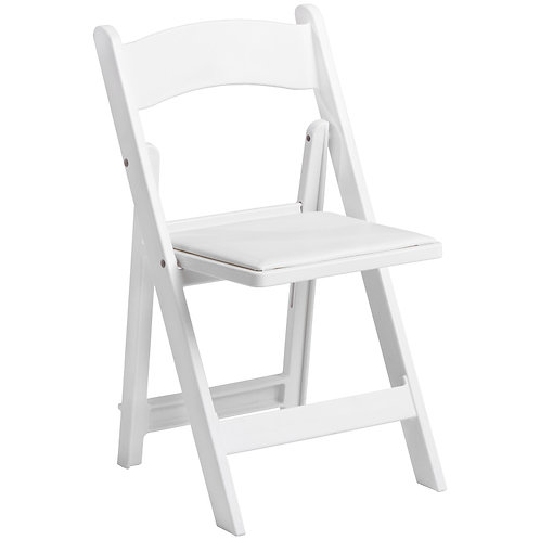 White Padded Foldable Chair