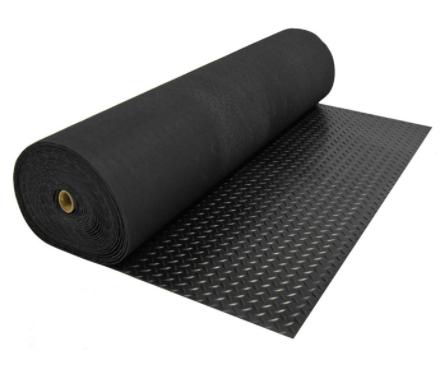rubber back black mat