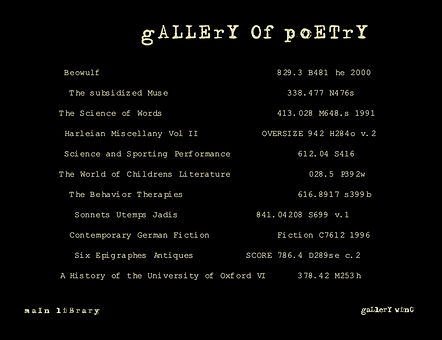 Tracing Gallery of Poetry