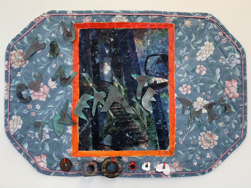 You Can Tolerate This, 2020, Xerox Transfer, Acrylic Paint, Found Treasure, Rags
